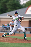 June 23rd 2008:  Pitcher Bryan Evans of the Jamestown Jammers, Class-affiliate of the Florida Marlins, during a game at Dwyer Stadium in Batavia, NY.  Photo by:  Mike Janes/Four Seam Images