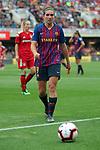 UEFA Women's Champions League 2018/2019.<br /> Semi Finals<br /> FC Barcelona vs FC Bayern Munchen: 1-0.<br /> Mariona Caldentey.