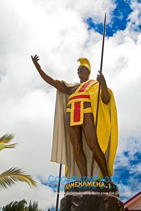 the original cast of the statue of King Kamehameha the Great, Kapaau, Kohala, Big Island, Hawaii