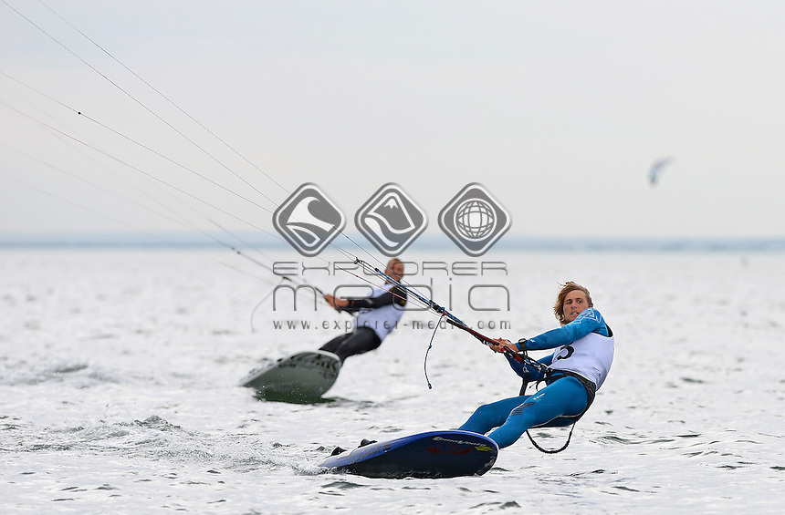 Kiteboard - M / Florian Gruber (GER)<br /> 2013 ISAF Sailing World Cup - Melbourne<br /> Sail Melbourne - The Asia Pacific Regatta<br /> Sandringham Yacht Club, Victoria<br /> December 1st - 8th 2013<br /> &copy; Sport the library / Jeff Crow