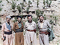 Iraq 1985? <br /> In Nawzeng, Jalal Talabani and Mullazem Omar  <br /> Irak 1985? <br /> A Nawzeng, Jalal Talabani et Mullazem Omar avec le tresorier de l'UPK
