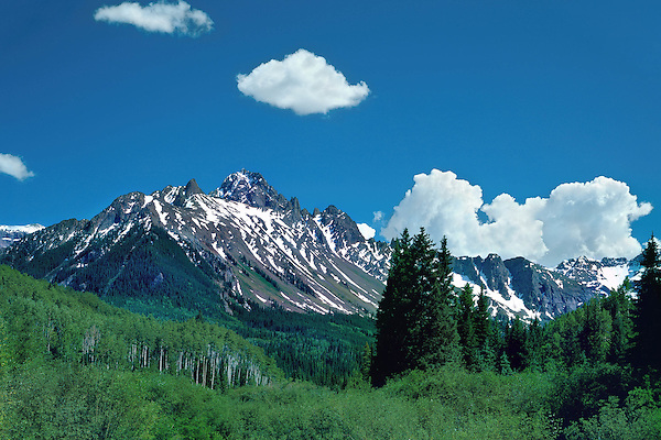 Mount Sneffels in the San Juan Mountains, Telluride, Colorado, USA. John guides custom photo tours in the Sneffels Range and throughout Colorado.