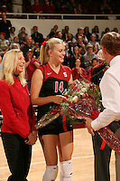 18 November 2005: Courtney Schultz during Stanford's 3-2 win over California in the Big Spike at Maples Pavilion in Stanford, CA.