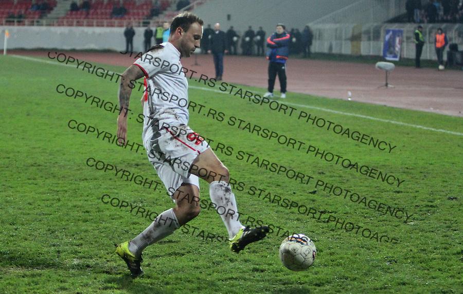 Fudbal Super liga season 2015-2016<br /> Radnicki (Nis) v Cukaricki<br /> Radnicki Marko Blazic<br /> Nis, 11.12.2015.<br /> foto: Sasa Djordjevic/Starsportphoto &copy;