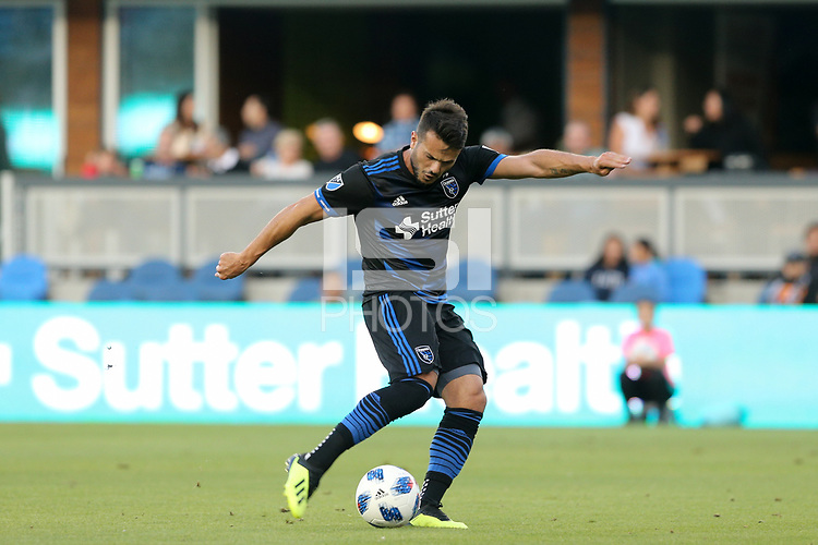 San Jose, CA - Saturday August 25, 2018: Vako during a Major League Soccer (MLS) match between the San Jose Earthquakes and Vancouver Whitecaps FC at Avaya Stadium.