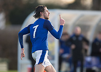 Antony Evans of Everton celebrates scoring the winning goal during the U23 - Premier League 2 match between Tottenham Hotspur U23 and Everton at Tottenham Training Ground, Hotspur Way, England on 15 January 2018. Photo by Vince  Mignott / PRiME Media Images.