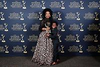 PASADENA - May 5: Lauren Lake, son CJ in the press room at the 46th Daytime Emmy Awards Gala at the Pasadena Civic Center on May 5, 2019 in Pasadena, California