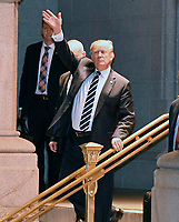 Donald Trump and Melania Trump Depart After Dinner