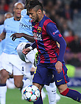 11.03.2015 Barcelona.UEFA champions League. Rounf 0f 16 2nd leg. Picture show Neymar during game between FC Barcelona against Manchester city at Camp Nou