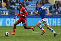(L-R) Tammy Abraham of Swansea City followed by Daniel Pudil of Sheffield Wednesday during The Emirates FA Cup Fifth Round match between Sheffield Wednesday and Swansea City at Hillsborough, Sheffield, England, UK. Saturday 17 February 2018
