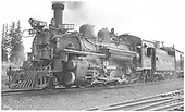 3/4 view of K-28 #470 at Cumbres.<br /> D&amp;RGW  Cumbres, CO  Taken by Schick, Joe - 9/1/1940