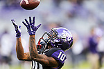 TCU Horned Frogs wide receiver Desmon White (10) in action during the game between the  West Virginia and the TCU Horned Frogs at the Amon G. Carter Stadium in Fort Worth, Texas.