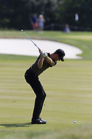 Sebastian Heisele (GER) plays his 2nd shot on the 12th hole during Saturday's Round 3 of the Porsche European Open 2018 held at Green Eagle Golf Courses, Hamburg Germany. 28th July 2018.<br /> Picture: Eoin Clarke | Golffile<br /> <br /> <br /> All photos usage must carry mandatory copyright credit (&copy; Golffile | Eoin Clarke)