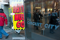 New York, NY - 28 January 2009 - Circuit City Going Out of Business sale