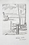 Seattle, Shilshole, yachts, fishing boats,  Joel Rogers, Journal Art 2002, charcoal on paper,