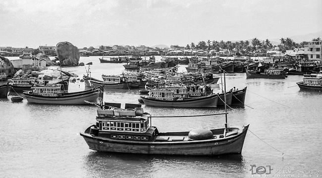 Fishing boats in the harbour, Danang, Vietnam