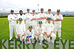 Limerick Team front l-r Gavin Devereux, Kaasin Ala, Harry Broadhurst, Darren Drury, Back l-r  Altaf Khan, Pha Mindi, Kevin Hennessy, John Lenihan, Declan Earlie, Jerry Howard and Dominic Broadhurst in the Cricket Munster League Division 3 Limerick v Kerry match at the Tralee Sports Complex on Sunday