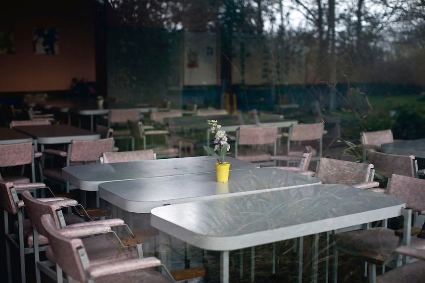 The canteen at Cauldon Place Care Home on Caledonian Road, Stoke-on-Trent. The dramatic demise of once world-renowned industries in the region has left a scarred landscape and relatively high levels of unemployment throughout Staffordshire.