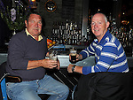 Kevin Faulkner and Thomas Wall celebrating Arthur's day in Wm Cairns. Photo: Colin Bell/pressphotos.ie
