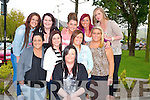BIRTHDAY: On Thursday night in Uno's Resturant Princess Quay, Tralee, Shauna Cunningham,Marian Park,Tralee celebrated her 21st birthday, (seated front) helping Shauna to celebrate her birthday were her best friends, Front l-r: Nancy O'Brien, Christina Mahony, Jackie Lee O'Sullivan and Emma Moriarty. Back l-r: Ciara Hill, Rebecca Byrne, Shauna O'Shea, Margaret McCarthy and Rita Molly.