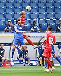 Florian Grillitsch (Hoffenheim, l.) gegen Sebastian Andersson (Union Berlin, r.).<br /> <br /> Sport: Fussball: 1. Bundesliga: Saison 19/20: 33. Spieltag: TSG 1899 Hoffenheim - 1. FC Union Berlin, 20.06.2020<br /> <br /> Foto: Markus Gilliar/GES/POOL/PIX-Sportfotos<br /> <br /> Foto © PIX-Sportfotos *** Foto ist honorarpflichtig! *** Auf Anfrage in hoeherer Qualitaet/Aufloesung. Belegexemplar erbeten. Veroeffentlichung ausschliesslich fuer journalistisch-publizistische Zwecke. For editorial use only. DFL regulations prohibit any use of photographs as image sequences and/or quasi-video.