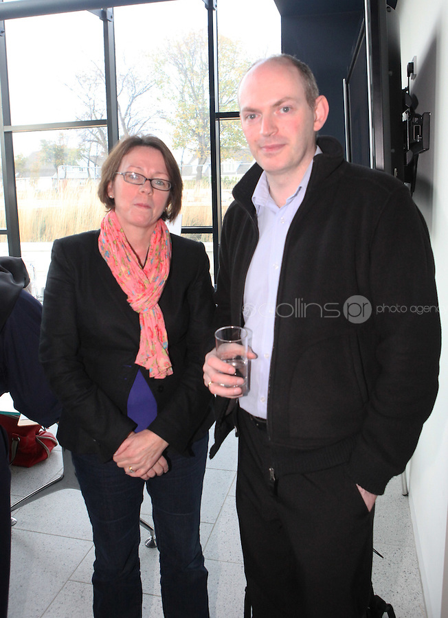 ***NO FEE PIC***.15/11/2010.(L to R).Bernie Meagher from FIS.Finn McGuirk from Southside Partnership DLR.at the launch of Children's Hope.TV at The Media Cube, IADT,Dun Laoghaire, Co. Dublin..The Irish children's Charity Children's Hope has developed an online educational resource for young people & youth workers, a website caleed www.childrens-hope.tv..The websitte features short curriculm-adhering educational programmes available to be played by young people in after-school projects geared to Youth & Comunity Leaders..Photo: Gareth Chaney Collins