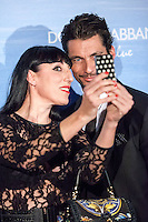David Gandy and Rossy de Palma attend the Dolce & Gabbana Mediterranean Summer Cocktail in Madrid