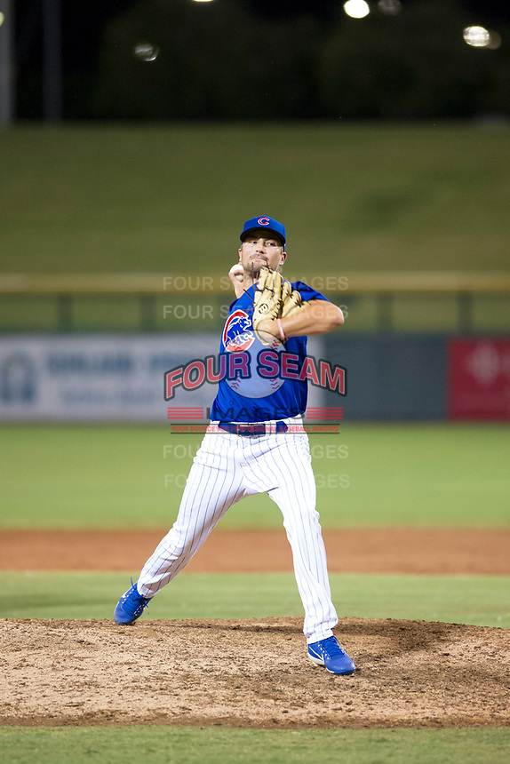 AZL Cubs relief pitcher Peyton Remy (54) delivers a pitch during a game against the AZL Brewers on August 6, 2017 at Sloan Park in Mesa, Arizona. AZL Cubs defeated the AZL Brewers 8-7. (Zachary Lucy/Four Seam Images)