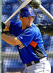 12 March 2007: New York Mets third baseman David Wright takes batting practice prior to facing the Washington Nationals at Space Coast Stadium in Viera, Florida. <br /> <br /> Mandatory Photo Credit: Ed Wolfstein Photo