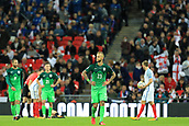 5th October 2017, Wembley Stadium, London, England; FIFA World Cup Qualification, England versus Slovenia; A dejected Aljaz Struna of Slovenia