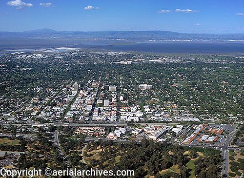 aerial photograph Palo Alto, Santa Clara county, California