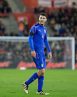 Luca Mazzitelli (Sassuolo) of Italy during the Under 21 International Friendly match between England and Italy at St Mary's Stadium, Southampton, England on 10 November 2016. Photo by Andy Rowland.