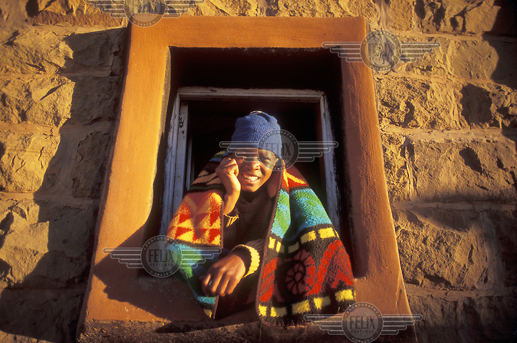 © Giacomo Pirozzi / Panos Pictures..Lesotho...Boy's portrait.