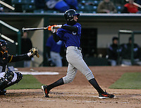 2007: Brandon Fahey of the Norfolk Tides at bat vs the Rochester Red Wings in International League baseball action.  Photo by Mike Janes/Four Seam Images