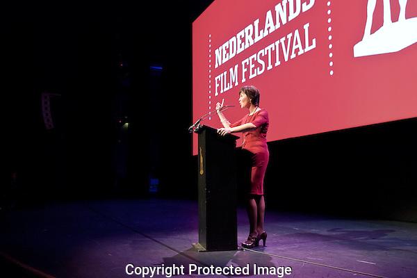 Openingsavond Nederlands Filmfestival in de stadsschouwburg Utrecht. Foto: Nichon Glerum.Willemien van Aalst