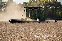 63801-07301 Soybean harvest with John Deere combine in Marion Co. IL