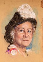 BNPS.co.uk (01202 558833)<br /> Pic: SAS/BNPS<br /> <br /> One of Bernard's studies of the Queen Mother.<br /> <br /> An amazing 30 year old time capsule of Royal artworks have been found gathering dust in a dilapidated estate near Tonbridge in Kent.<br /> <br /> They form part of a remarkable collection of 400 works by the almost forgotten painter Bernard Hailstone, that have been locked away in his abandoned studio at Hadlow Tower since his death in 1987.<br /> <br /> Amongst the famous figures who sat for Mr Hailstone, who died in 1987, were the Queen, the Queen Mother, Prince Charles, Winston Churchill, former US president Jimmy Carter and actor Laurence Olivier.<br /> <br /> While sitting for her portrait at Buckingham Palace, The Queen asked him to adjust the aerial so she could watch the horse racing on the TV.<br /> <br /> The then US president Jimmy Carter was sketched by Mr Hailstone during a flight from London to New York, while Mr Hailstone and Winston Churchill discussed aliens during their sitting at Chartwell.