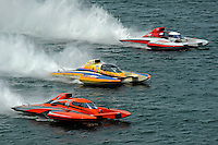 """Mike Monahan, GP-79 """"Bad Influence"""", Marty Wolfe, GP-93 """"Renegade""""  and Bert Henderson, GP-777 """"EMS Steeler""""  (Grand Prix Hydroplane(s)"""