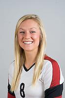 STANFORD, CA - AUGUST 13, 2013 - Megan McGhee of the Stanford Women's Volleyball team.
