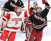Sarah Lefort (BU - 9), Sarah Edney (Harvard - 3) - The Boston University Terriers defeated the visiting Harvard University Crimson 2-1 on Sunday, November 18, 2012, at Walter Brown Arena in Boston, Massachusetts.
