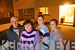 The O'Sullivan family following are terrified following their ordeal at home on Tuesday night when their front window and door were smashed in by rocks and glass bottles. .L-R Pat, Theresa, Cecelia and Breda.