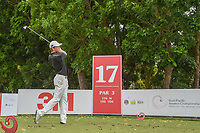 Daniel HILLIER (NZL) watches his tee shot on 17 during Rd 3 of the Asia-Pacific Amateur Championship, Sentosa Golf Club, Singapore. 10/6/2018.<br /> Picture: Golffile | Ken Murray<br /> <br /> <br /> All photo usage must carry mandatory copyright credit (© Golffile | Ken Murray)