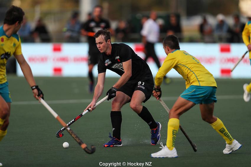 Dominic Newman. Pro League Hockey, Vantage Blacksticks Men v Australia, ANZAC test. North Harbour Hockey Stadium, Auckland, New Zealand. Thursday 25 April 2019. Photo: Simon Watts/Hockey NZ