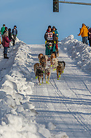 Matt Hall on Cordova St. hill during the Anchorage start day of Iditarod 2018 on Cordova St. hill during the Anchorage start day of Iditarod 2019