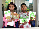 Shona and Ahron Mathew pictured at the childrens St. Patrick's Day and Easter art workshop held in the Library. Photo:Colin Bell/pressphotos.ie