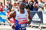 LONDON, UK, 13th April, 2014. Competitor Mo Farah during 2014 London Marathon.<br /> Picture by David Horn/Extreme Aperture Photography +44 7545 970036<br /> 13/04/2014