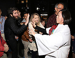 Jake Gyllenhaal, MaryAnn Hu and Annaleigh Ashford during the Actors' Equity opening night Gypsy Robe Ceremony honoring  MaryAnn Hu for ''Sunday in the Park with George' at the Hudson Theatre on February 23, 2017 in New York City.