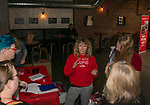 Race Director Ali Ball talks with volunteers during the Cupid's Undie Run to benefit Neurofibromatosis in Reno, Nev., Saturday, Feb. 8, 2020.