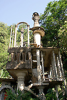 Side view of the Cinema at Las Pozas, the surrealistic sculpture garden created by Edward James near Xilitla, Mexico
