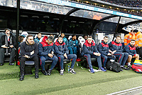 Swansea manager Carlos Carvalhal and the rest of his bench during the Premier League match between Newcastle United and Swansea City at St James' Park, Newcastle, England, UK. Saturday 13 January 2018